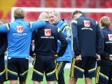 Тренировка сборной Швеции