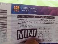 Билет на матч второго состава «Барселоны»