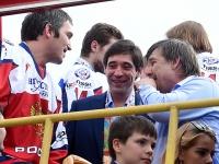 Александр Овечкин, Данис Зарипов и Олег Знарок