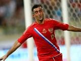 Александр Самедов в матче против Сербии