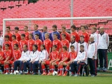 Фотосессия молодёжной сборной