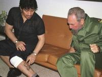 Диего Марадона и Фидель Кастро