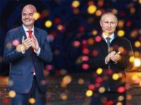 Владимир Путин и глава ФИФА Джанни Инфантино
