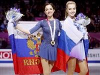 Евгения Медведева и Елена Радионова