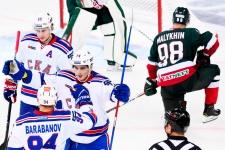 Казань не могла смотреть на это. СКА отгрузил чемпиону 11 шайб за две игры