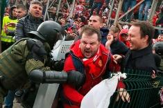 Как болельщика «Спартака» задержала полиция в Санкт-Петербурге