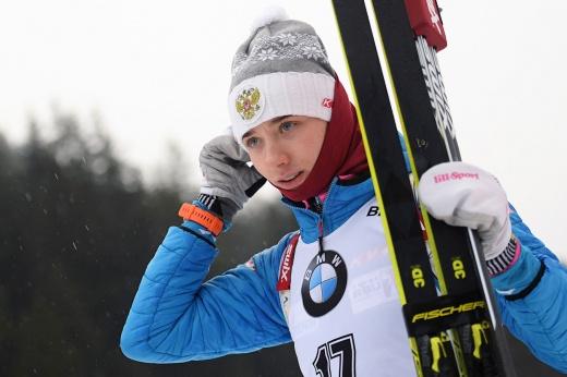 Биатлонистка Лариса Куклина пожаловалась на тяжёлые погодные условия на этапе в Анси