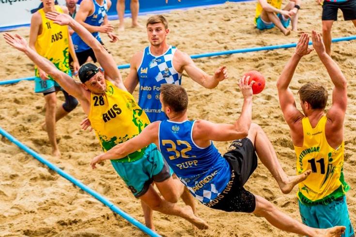 Этап Евротура по пляжному гандболу в России