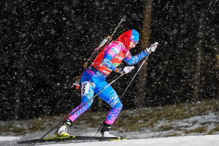 Российская биатлонистка Миронова счастлива первой медали на Кубке мира