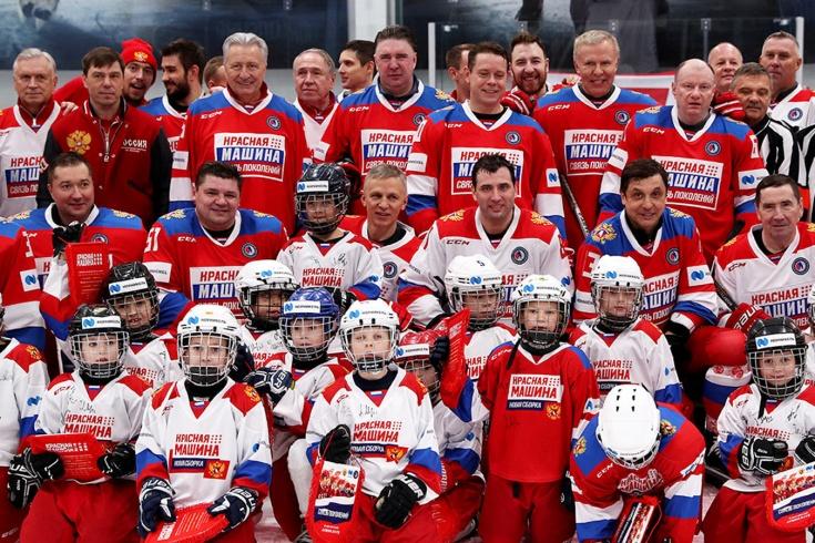 Хоккейный гала-матч «Связь поколений» в Лужках, 10 декабря 2019 года