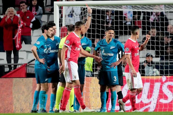 «Зенит» вылетел из Лиги чемпионов, провалив второй тайм матча с «Бенфикой»