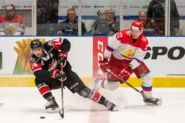 Россия U20 – Канада WHL – 4:3Б, обзор матча