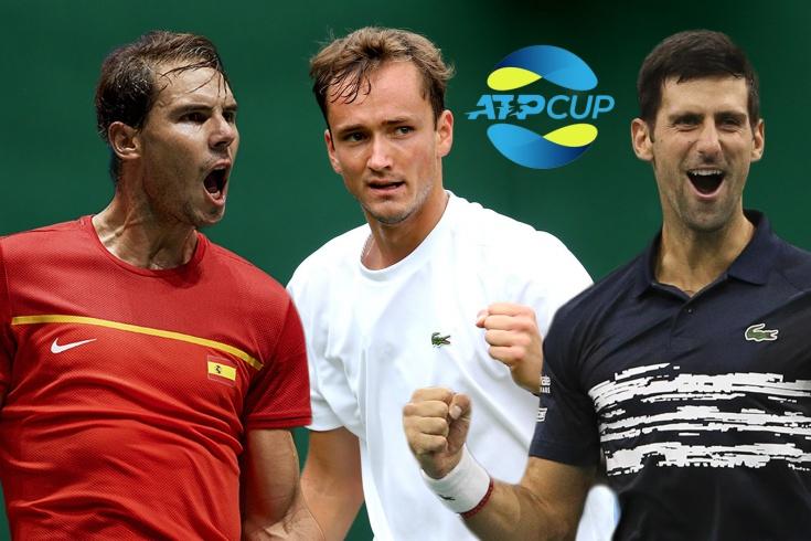 Медведев, Хачанов, Надаль, Джокович, Циципас, Зверев сыграют на ATP Cup