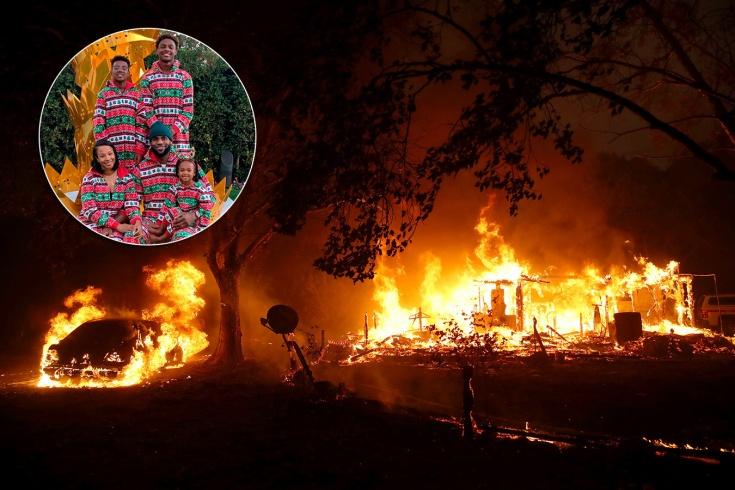 Леброн спас семью от лесных пожаров