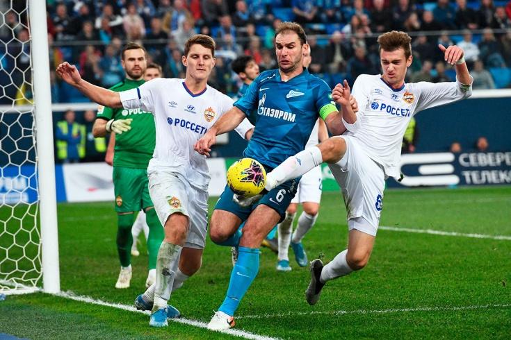26 ударов нанесли по воротам ЦСКА
