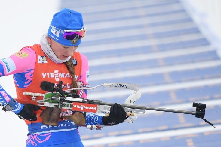 Биатлонистка Миронова стала второй в спринте на Кубке мира, но только ходом