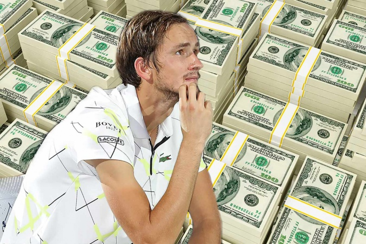 Даниил Медведев заработал за выступление на US Open миллион долларов