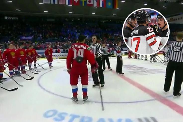 Хэйтон не снял шлем во время гимна России