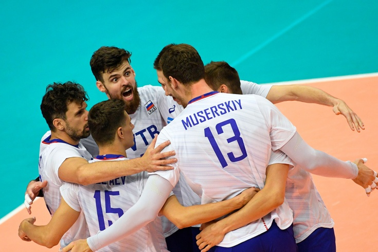 Российские волейболисты на чемпионате Европы-2019