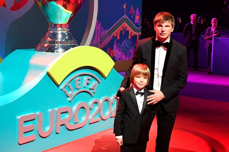 Андрей Аршивин с сыном Арсением