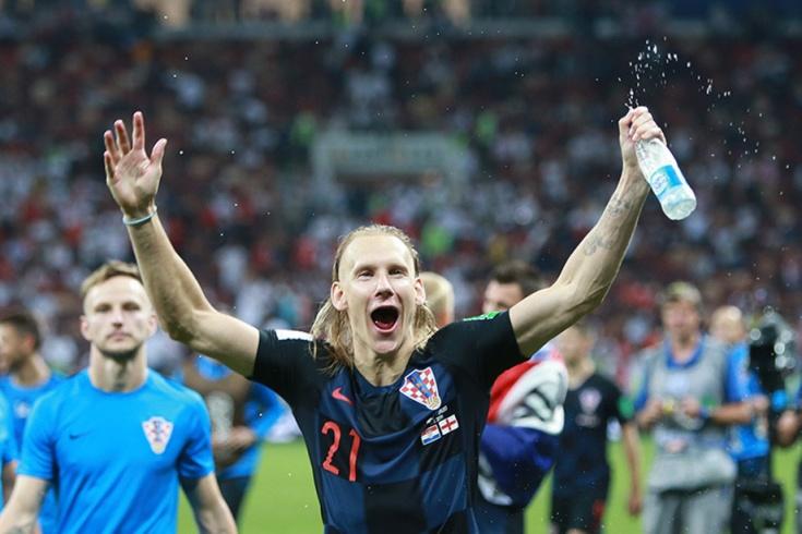 Домагой Вида на матче Хорватия - Англия